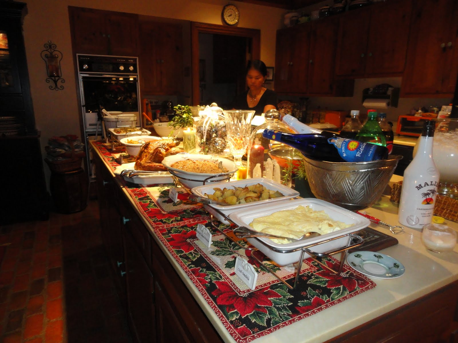 Christine 39 s home and travel adventures dinner party before the new year - Buffet table images ...
