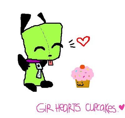 Gir I Miss You Cupcake