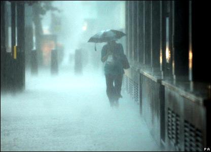 raining in england