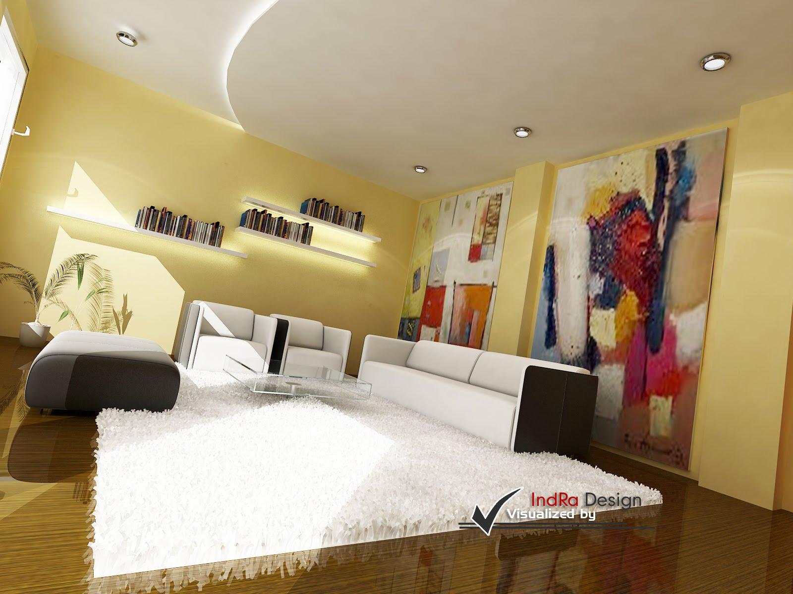 Design Ruang Tamu Minimalis dengan Sentuhan Abstract Modern..