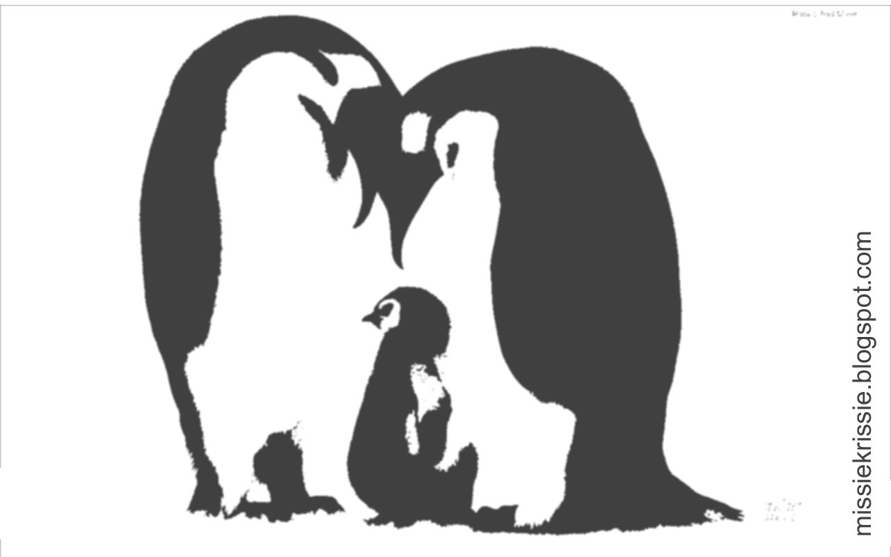 Penguin Family Drawing Click The Image Right to Save