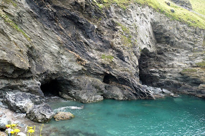caves below Tintagel castle