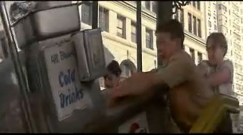 Push Hot Dog Cart Down Stairs