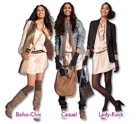 Tres maneras y tres estilos de llevar el vestido túnica