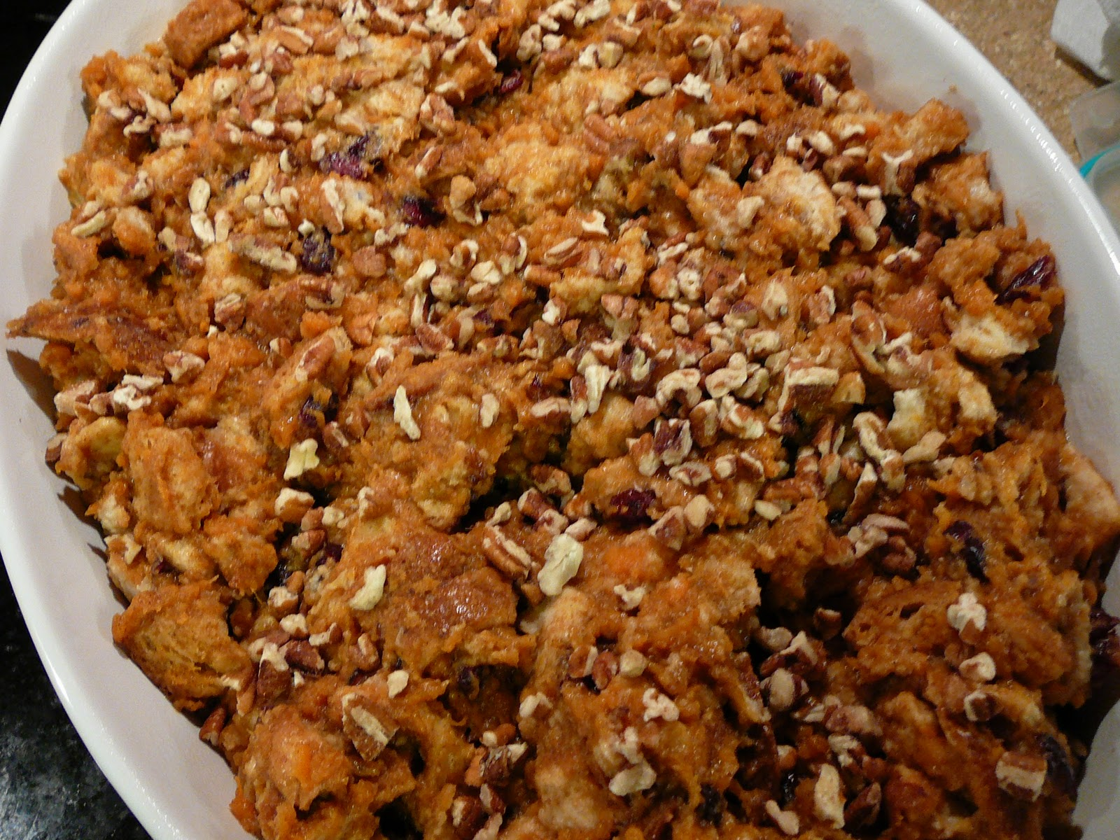 Bentobloggy: Sweet Potato & Maple Pecan Bread Pudding