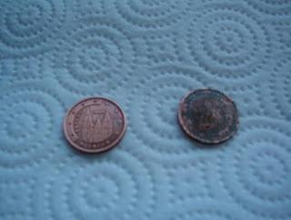 F sica y qu mica ies ciudad jard n monedas verdes rub n - Como limpiar metal oxidado ...