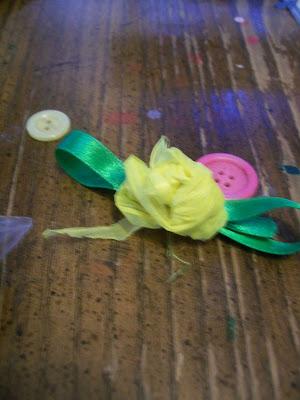 plastic bag craft flower
