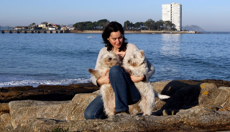 Mis perras y yo en el Bao