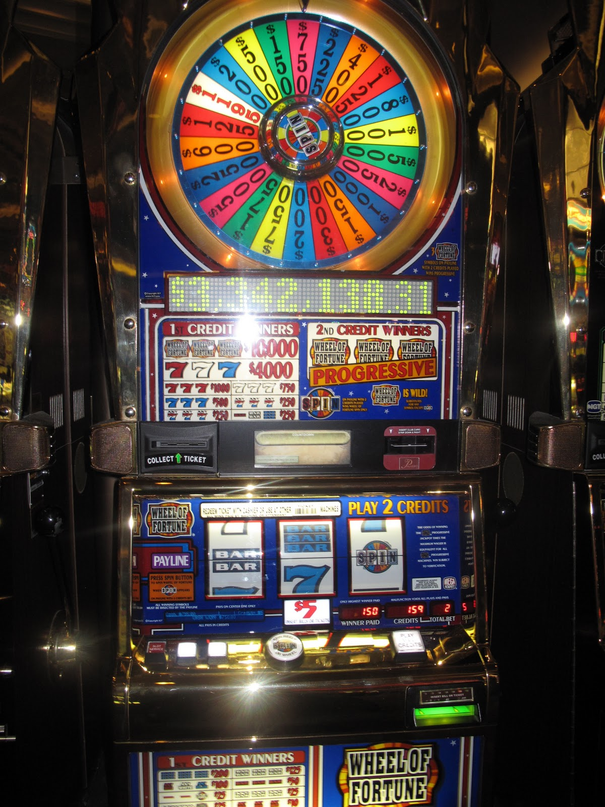 wheel of fortune 25 cent slot machine payouts by casino