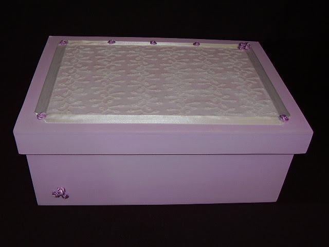 Caja grande con tapa calce