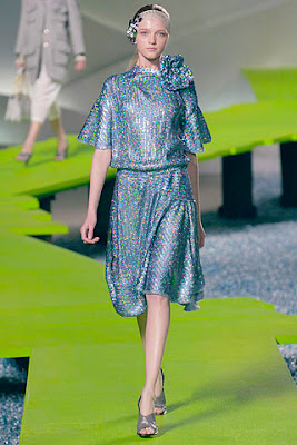 Sequined Skyblue Dress Used Monochromatic Color Scheme It Is Casual But Glamourous As The Silvery Add Some Glamour To Outfit