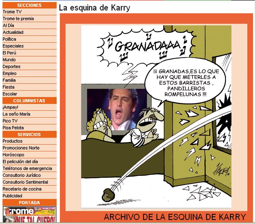 Karry Cartoons El Diario Peruano Trome Es El Periódico Mas Leido