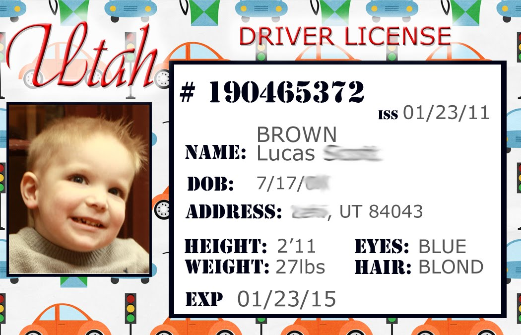 fake driving licence template - smile like you mean it personalized credit cards for kids