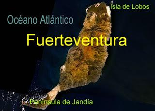 Mapa de Fuerteventura - islas Canarias