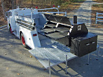 Firetruck - custom built pork steak grill