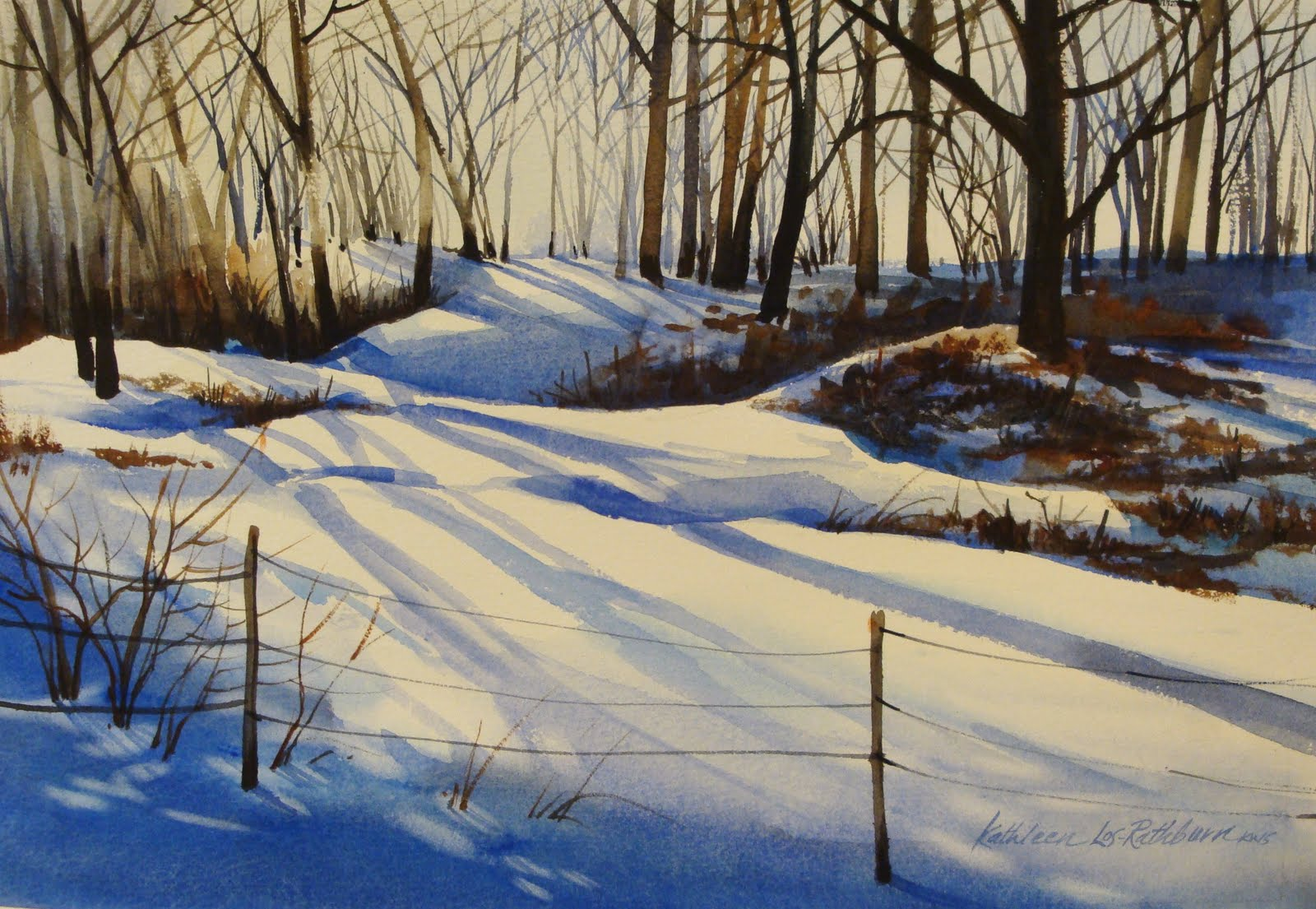 Kathy Los-Rathburn,: Winter in Indiana