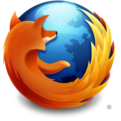 Absurdly large Firefox logo.