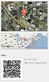 QR code on Brightkite page.