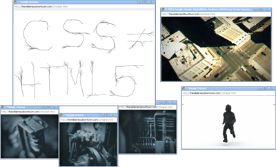 Screen shot of windows from the video