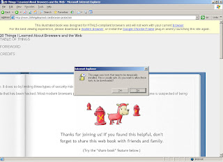 Screen shot of the site in IE6, before downloading the fonts.