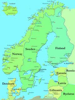 Sverige, Norge, Danmark, Island, Finland