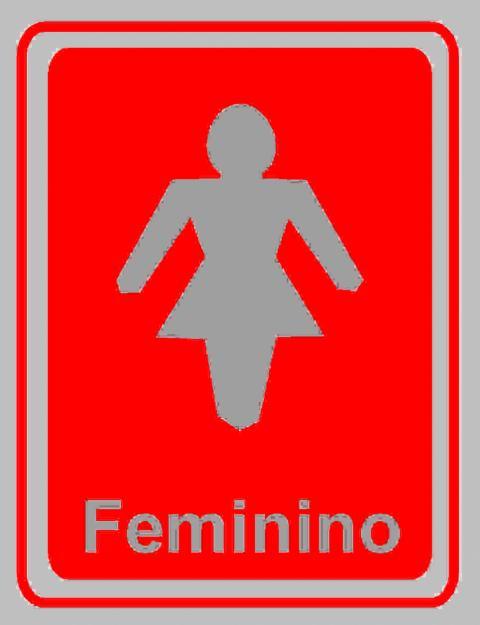 Imagem banheiro pra mulheres  Imagui -> Banheiro Feminino Placa
