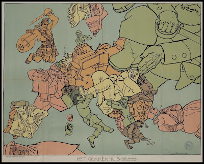 Map Of Europe From Ww1