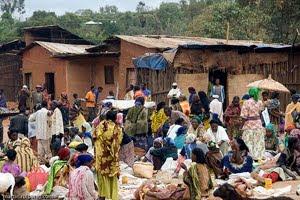 Mercado en Yabelo, ciudad de la Región de Oromía, en el Sur de Etiopía