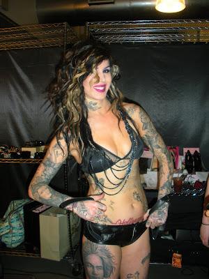 Kat Von D Tattoo artist Kat Von D inks a tattoo on someone in an attempt