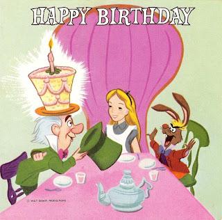 Vintage Disney Alice in Wonderland: Buzza Cardoza Birthday Card Record