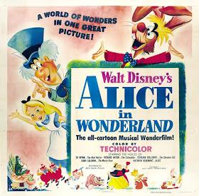 Alice in Wonderland Disney cartoon movie poster print #4