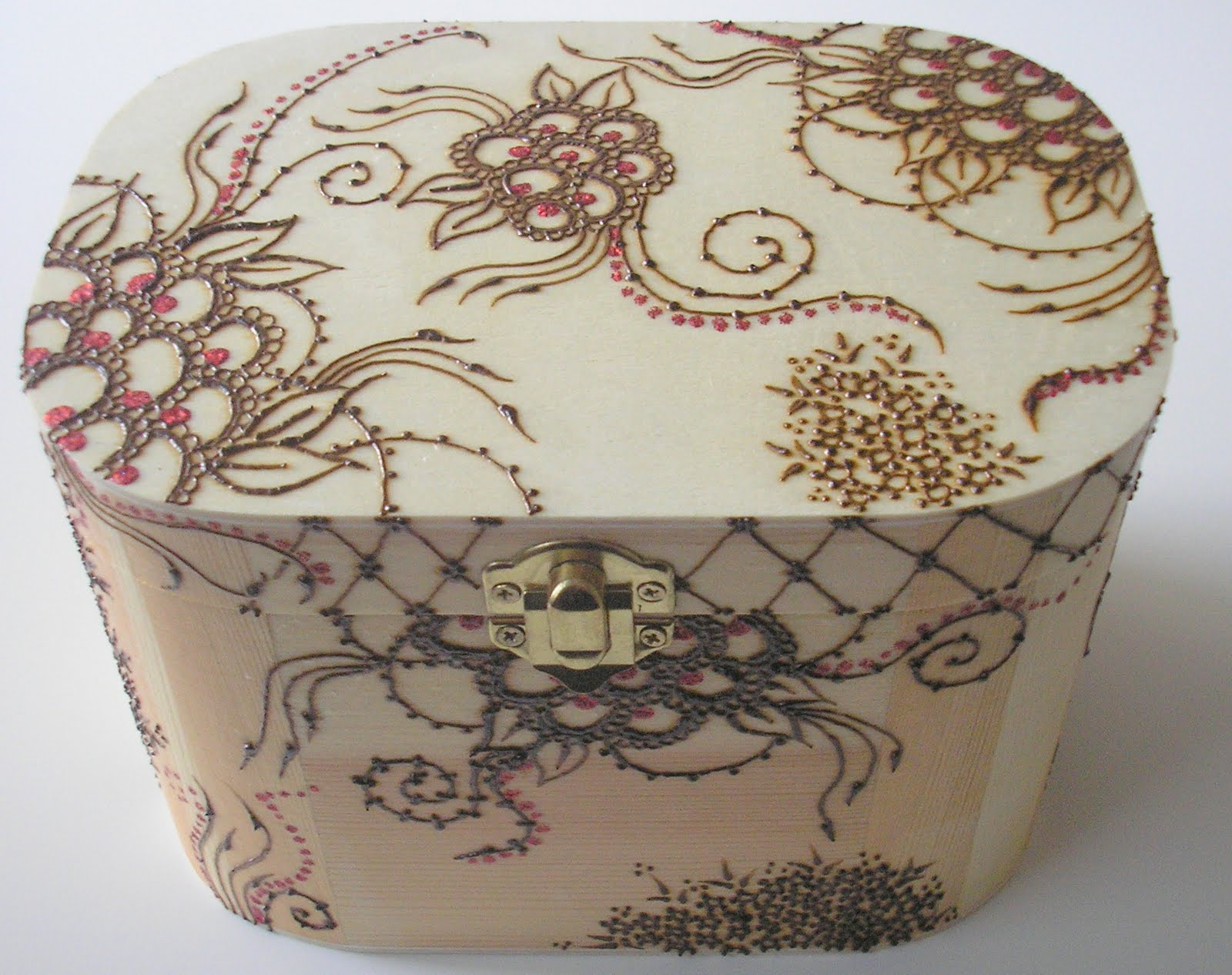 Henna Design NEW Henna Jewelry Box And Frame