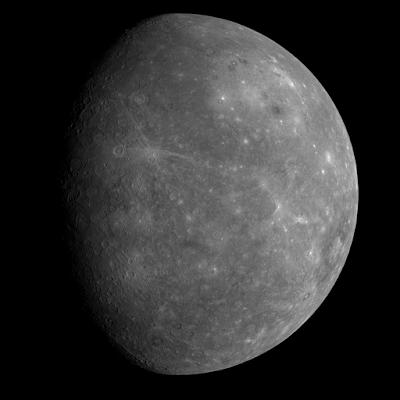 Mercurio fotografiado por la sonda MESSENGER