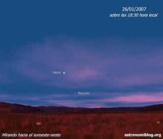 Venus y Mercurio el 26/01/2007