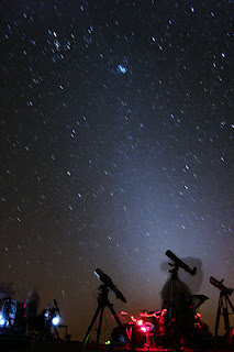 Ejemplo de luz zodiacal
