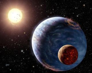 Visión artística de un exoplaneta