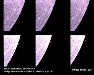 Ocultación de Saturno por la Luna 22/05/2007 IV