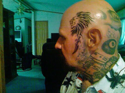 Brown Pride Tattoo. Lion signifies pride, rule,