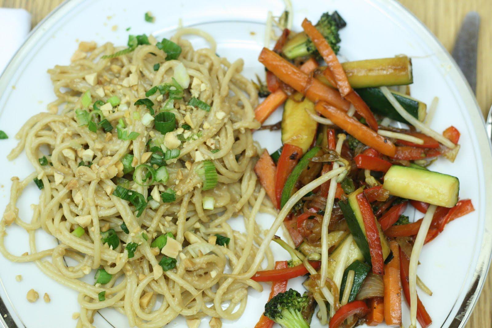 Let Me Plan Dinner!: Asian Peanut Noodles, Stirfry