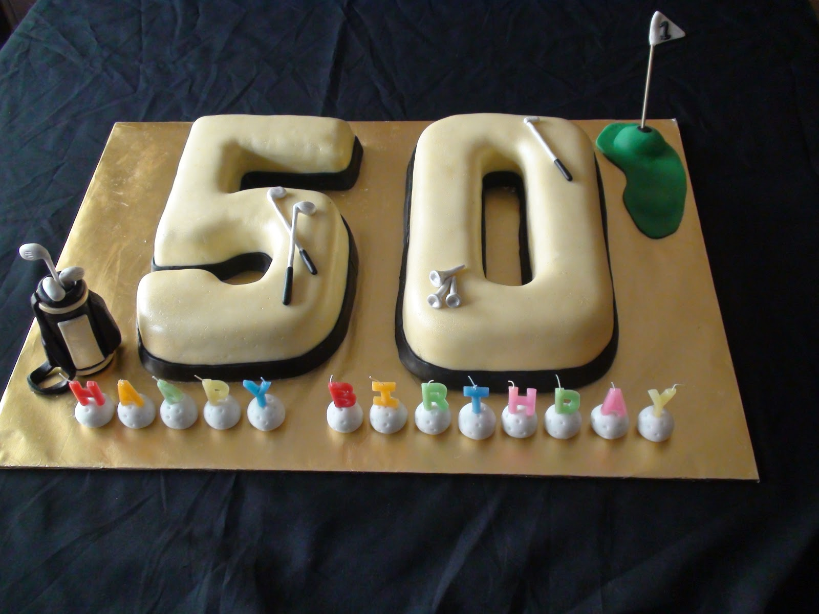 50th Birthday Cake Pictures For Her : Fazy s Kitchen: Black and Gold 50th Birthday Cake