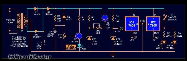 Mini Ups System Circuit