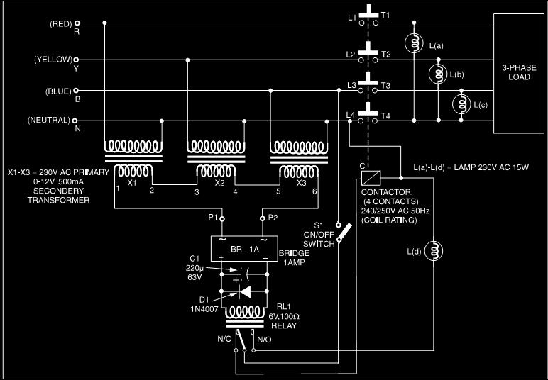 Ask the trades single phasing preventer actually i found a circuit anyone can tell me this circuit can i use for the project what should i change in this circuit swarovskicordoba Choice Image