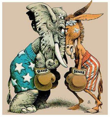 Democrats Republicans fighting