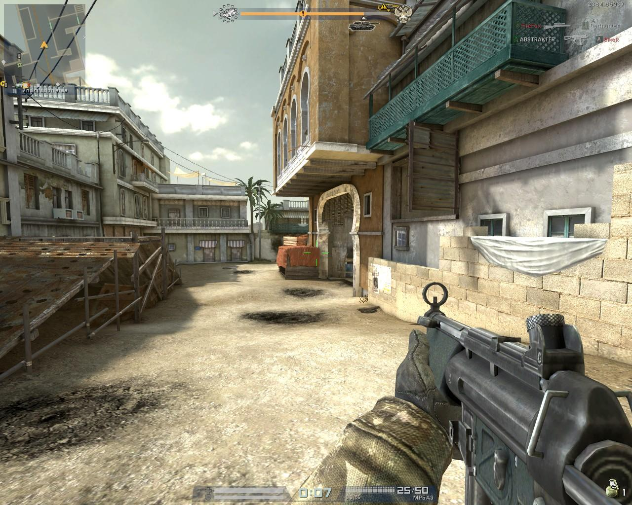 Screenshot of free online first-person shooter game