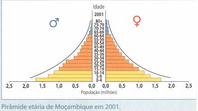 Pirâmide jovem, base larga e topo fino