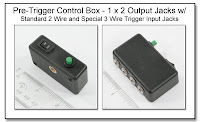 PT1024: Pre-Trigger Control Box - 1 x 2 Output Jacks with Standard 2 Wire and Special 3 Wire Trigger Input Jacks