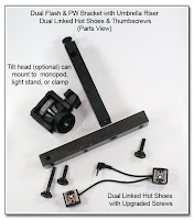 DF1023: Dual Flash Bracket - Monopod Version - Parts