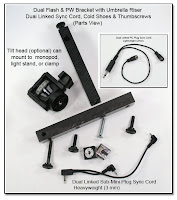 DF1025: Dual Flash Bracket - Monopod Version