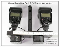 DF1014: Always Ready Dual Flash & PW Stand - New Version (ruler shown)