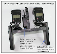 DF1016: Always Ready Dual Flash & PW Stand - New Version (batteries attached)
